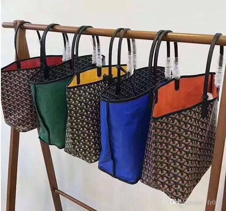 2020 del progettista di spalla delle donne borsa di cuoio reale a tracolla della borsa Feminina Borse signore Claire Voie tote reversibili Bag Composito