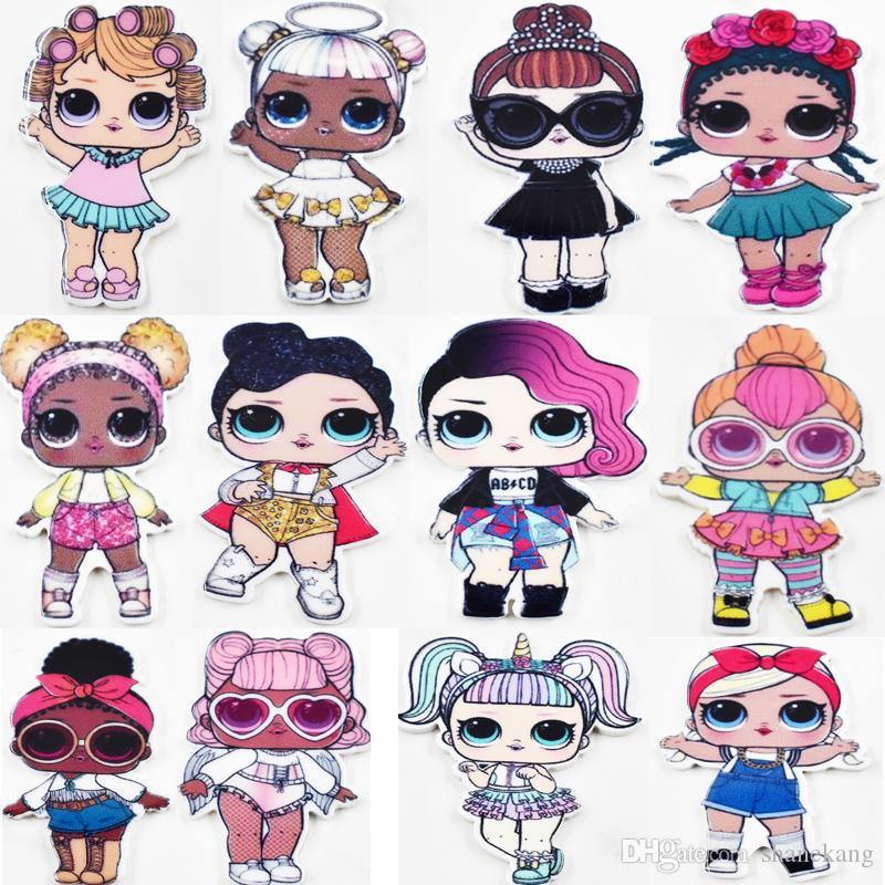 2020 Kawaii Resin Charms Big Eye Girls Charm DIY Accessories For Children Hairpin Birthday Cake Decoration