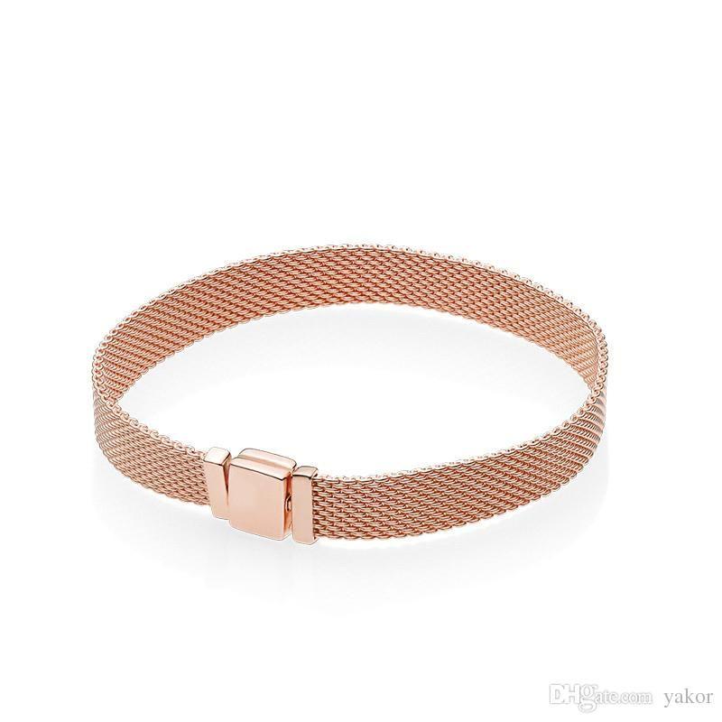 pandora bracciale originale oro rosa