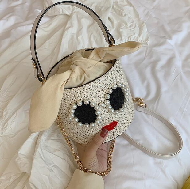Çanta Zinciri Çanta Arkadaş Tasarımcı Kız Kepçe Çanta Bayan Sevimli Plaj Çantaları Mini Omuz Çantası Lüks Crossbody Öğrenci