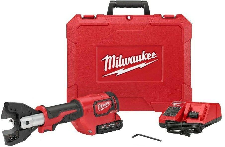Milwaukee Cordless Cable Cutter Kit 12-Volt W// Battery Charger Hard Case Tool