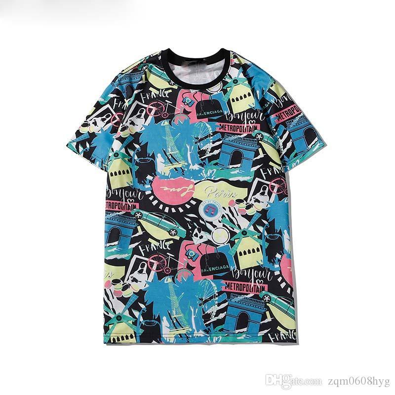 Modalità Italien Luxus Frauen-T-shirt Meduse T-Shirt Stampa-shirt lässiges T-shirt Tops Männer 3d Luxus T-shirt S-2-3XL