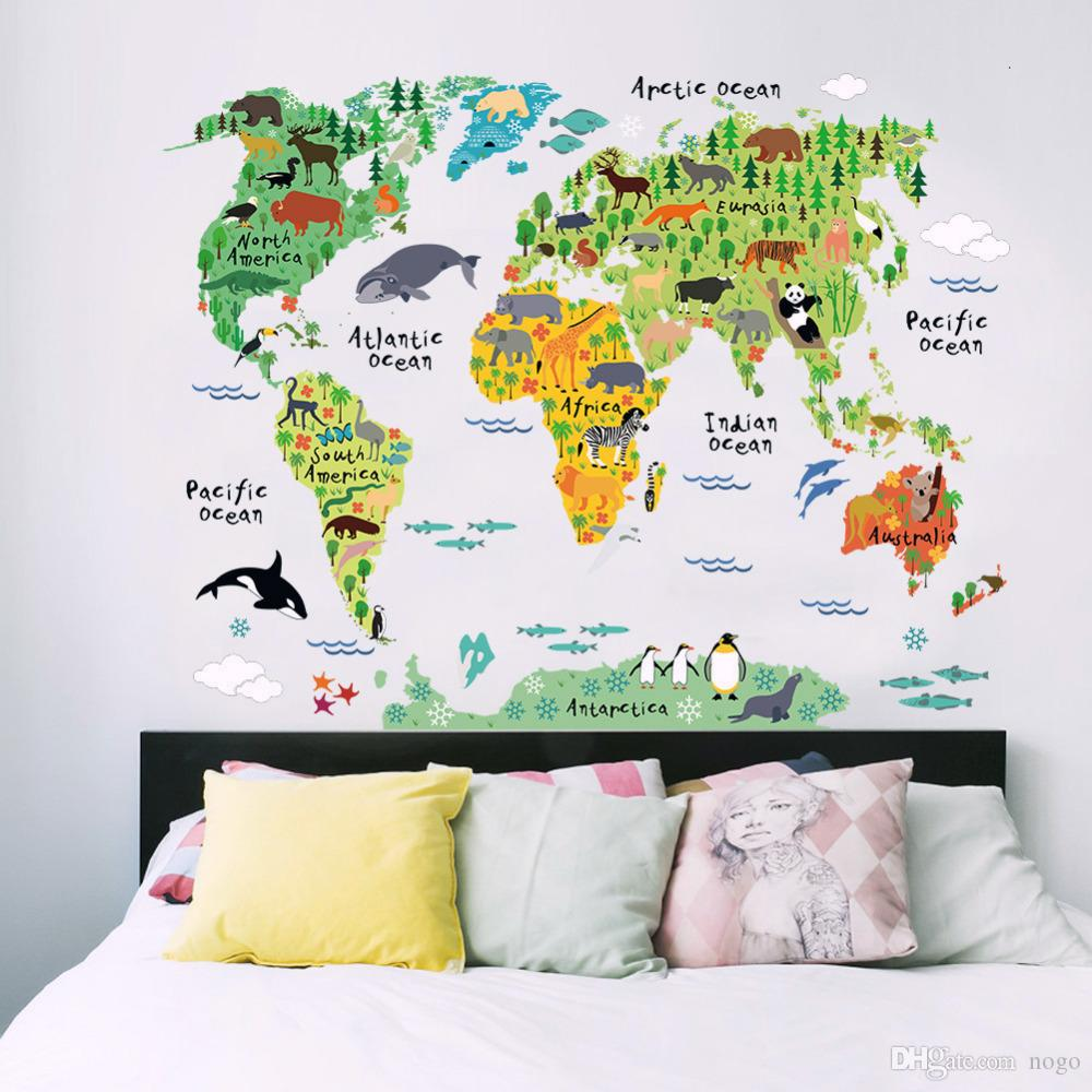 cartoon original world maps paper earth moon poster wall chart home decoration wall sticker for kids rooms office home decor wall vinyl stickers wall vinyls from nogo 3 15 dhgate com decor wall vinyl stickers wall vinyls