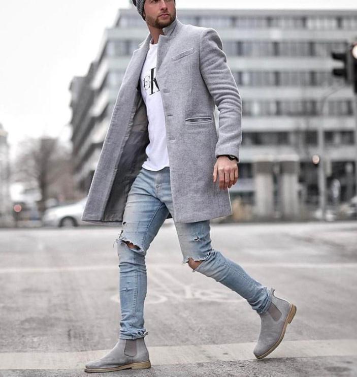 Winter Fashion Designer Wool Coat Men Plus Size Outwear Black Warm Men's Long Blazer Coats Office Overcoat