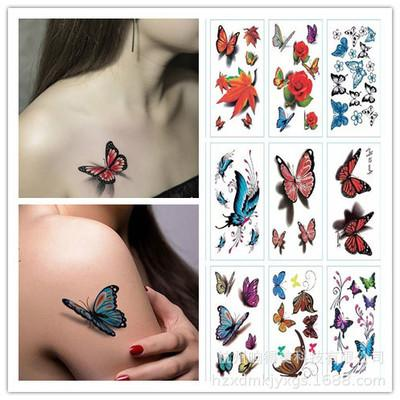 Tatuagens Femininas Delicadas Beleza 1 Peça Compõem Falsos Tatuagens Temporárias Adesivos Rosa Flores Braço Ombro Tatuagem à Prova D água Mulheres