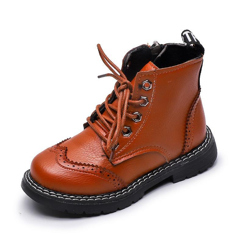 Ankle Boots Brogue Shoes For Boys Girls