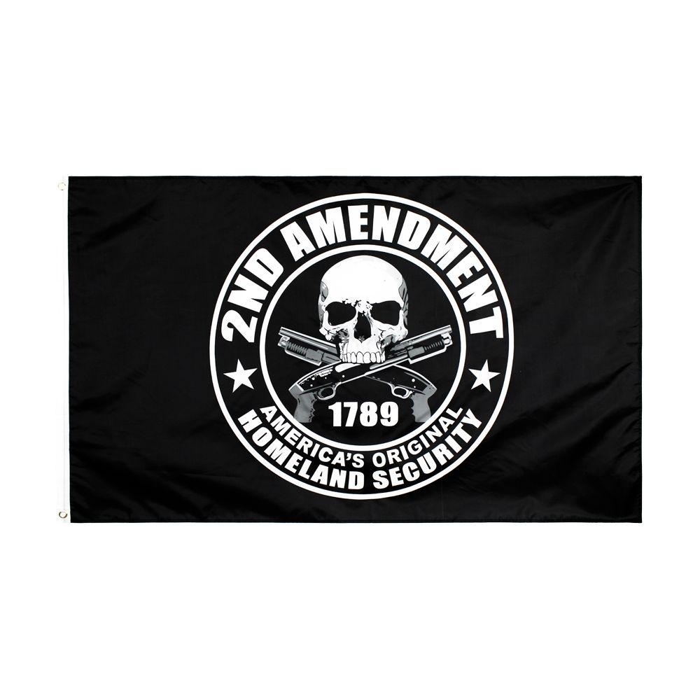 50pcs direkte Fabrik Großhandel 90 * 150cm 3x5 fts US-Verfassung 2. Zweite Änderung Flagge für Änderung II