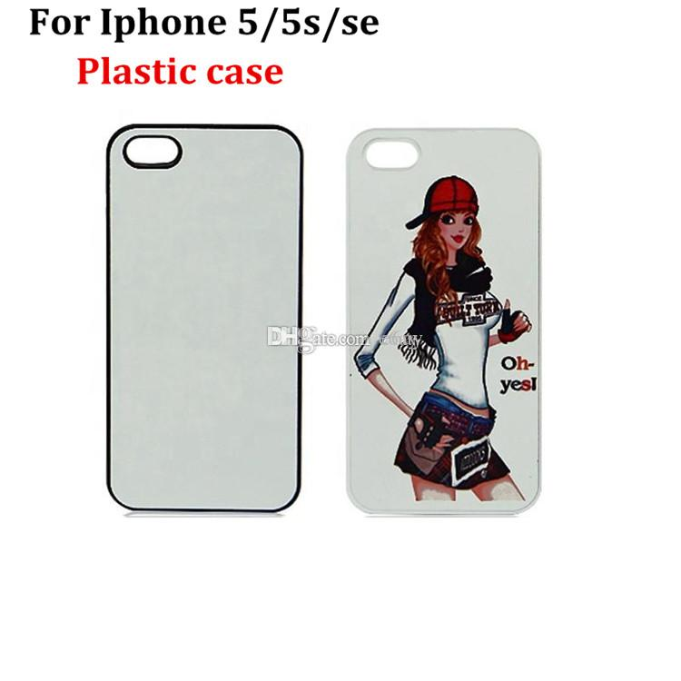 For Iphone 5/5S DIY 2D Sublimation Cases Heat Press PC Case With Blank Metal Aluminium Plates DHL Free Shipping