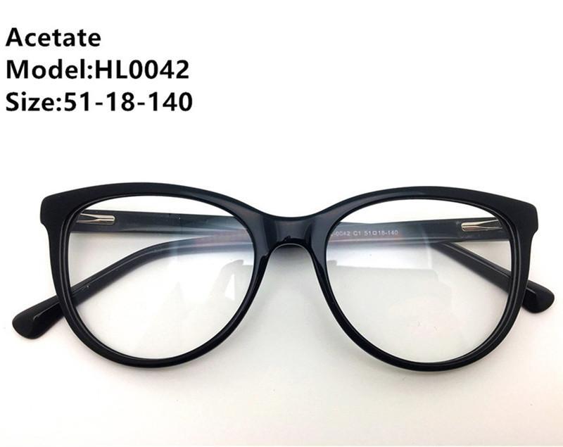 الرجال أعلى إطارات تصميم الأزياء النظارات الجودة النساء البصرية خمر لوح النظارات خلات ماركة نظارات إطار نظارات HL00 UREQO