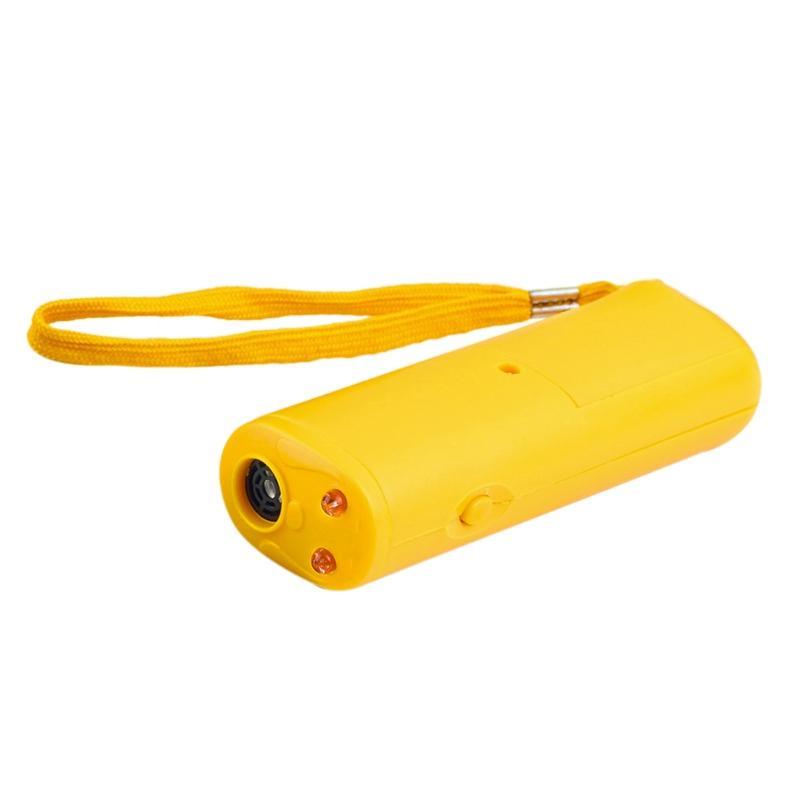 높은 품질 3 1 안티 짖는 중지 껍질 초음파 애완 동물 개 펠러 훈련 장치 트레이너와 함께 LED 개 훈련 순종