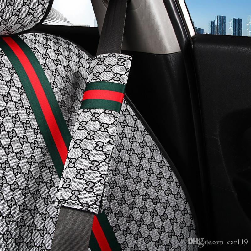 한 쌍의 아마 자동차 Sefety 시트 벨트 커버 보호 아동 머리 받침 안전 벨트 쿠션 섬유 대마 안전 벨트 어깨 패드 자동차 액세서리 S M의 L
