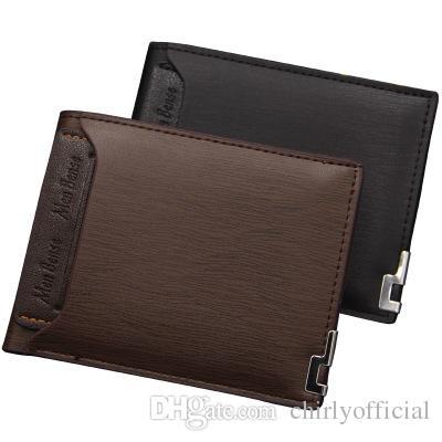 pg81 Männer Geldbörsen berühmte Marke Mode Tasche Taschen Luxus Designer Männer PU Leder Geldbörse kurze Geldbörsen für Männer