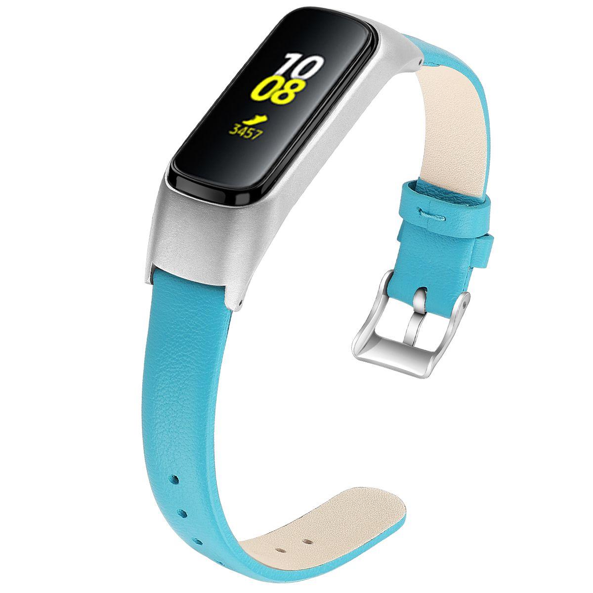 Samsung Galaxy Fit-e R375 Watchband Saat Kayışı Yedek Bileklikler Bilezik 93006 için Deri Kayış