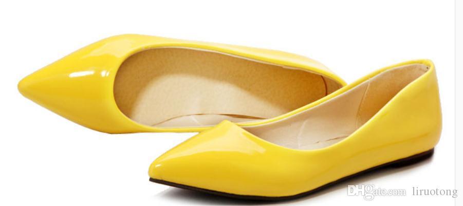 2019 scarpe da donna in primavera e in autunno con il nuovo stile fondo piatto estremità appuntita @ 5035