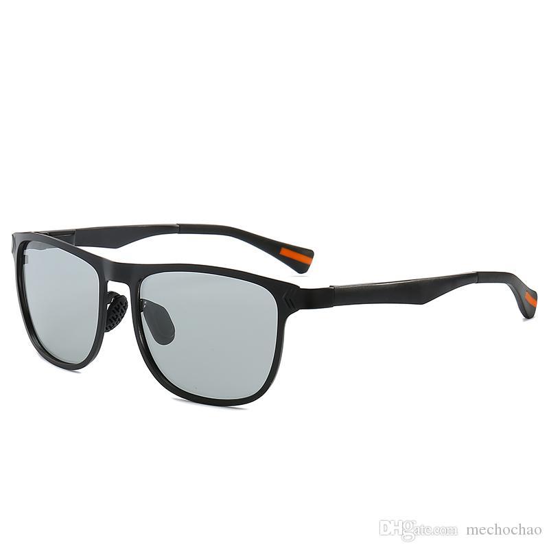 Farbwechselnde Damensonnenbrillen für Herren, Herrenbrillen für Outdoor-Sportler, europäische und amerikanische Froschspiegel, polarisierte Sonnenbrillen