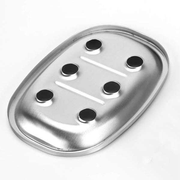 HLZS-Piatto di sapone in acciaio inox Premium vassoio del sapone della cucina e bagno doppi lavandini Livelli da bagno