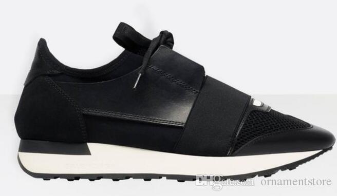 2019 горячий Slae верхнего качества женщины мужчины белые кожаные черные сетки случайные обувь Гоночные ботинки размер 35-44 с коробкой