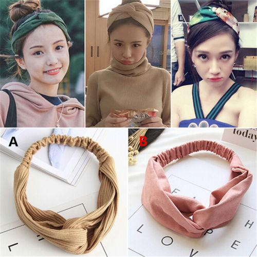 Women/'s Turban Twist Knot Head Wrap Headband Twisted Knotted Hair Band Sightly