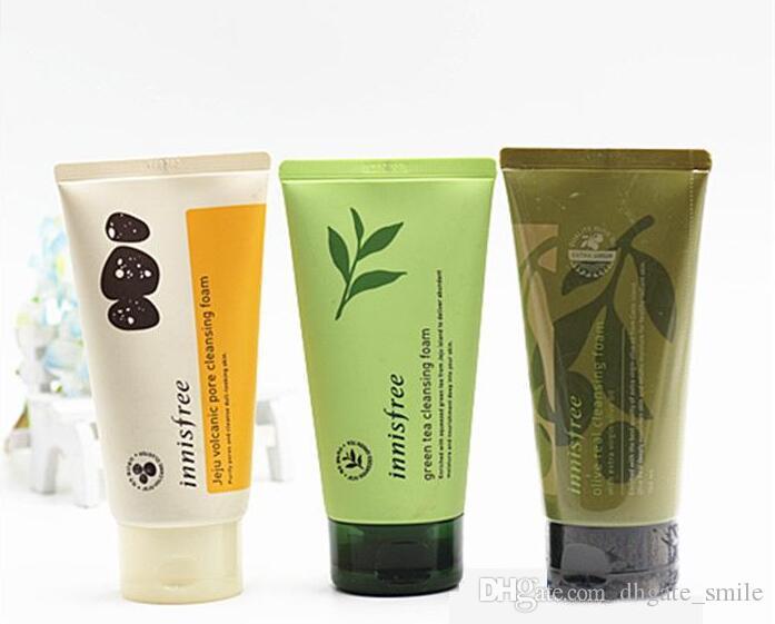 DHL free INNISFREE Jeju Volcanic Pore Cleansing Foam Olive Real Cleasing Foam Green Tea Cleaning cleanser facial foam face cream