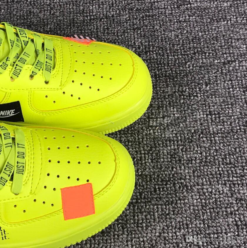Acquista NIKE AIR FORCE 1 Af1 One Calda Vendita Calassis Impermeabile Air Skateboard Scarpe Sportive Bianco Nero Verde Arancione i Opzionale Coppia