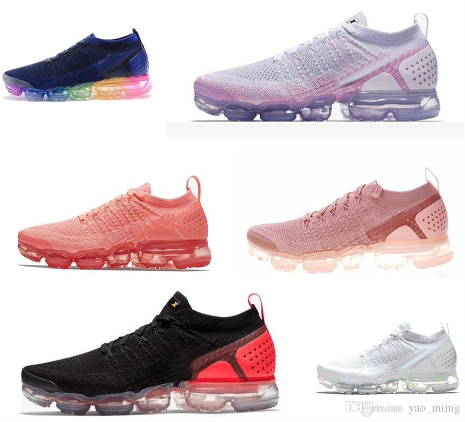 2018 2 Rainbow Be True Mens Shock Running Shoes Fashion Women Casual 2.0 Chaussures Mens Trainers Sports Sneakers