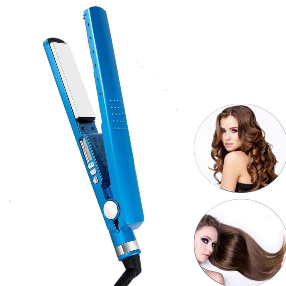 Women Multifunctional Hair Straightener Pro 2 in 1 Twist Hair Curling & Straightening Iron Curling Irons Flat Iron Set