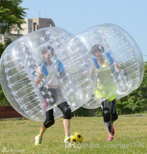 Big Discount1.0mm TPU Inflatable Zorb Ball 1.5m Bubble Soccer Ball Air Bumper Ball Bubble Football For Adults or child Free shipping