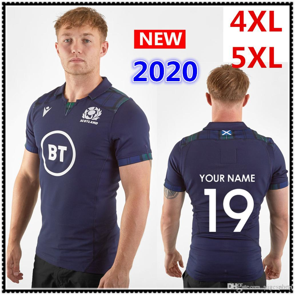 Benutzerdefinierte Namen und Nummer 2020 Schottland Haus Rugby Jersey International League Trikot Scotland Rugby-Trikots Shirt große Größe s-5xl
