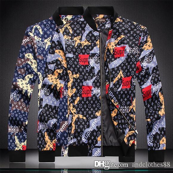 2020 de haute qualité Automne mince Mens Brand New Jackets Designer Mens Veste coupe-vent manteaux des hommes de broderie militaire windrunner veste de marque