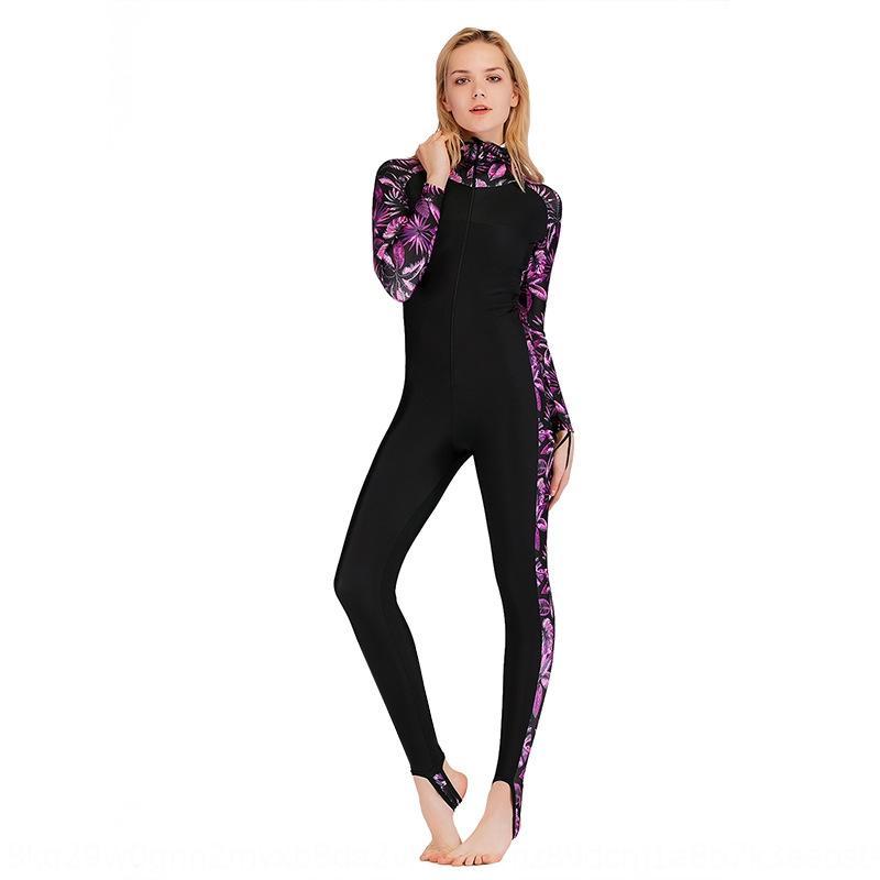 2019 Hai Fledermaus einteiligen Sonnenschutz der Frauen lange Hülse schlank schwimmen tauchen Frauen Tauchanzug Surfen Anzug