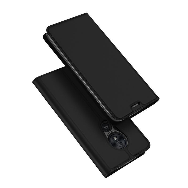 DUX DUCIS Skin Pro Series Horizontal Flip PU + TPU Leather Case for Motorola Moto G7 Play , with Holder & Card Slots