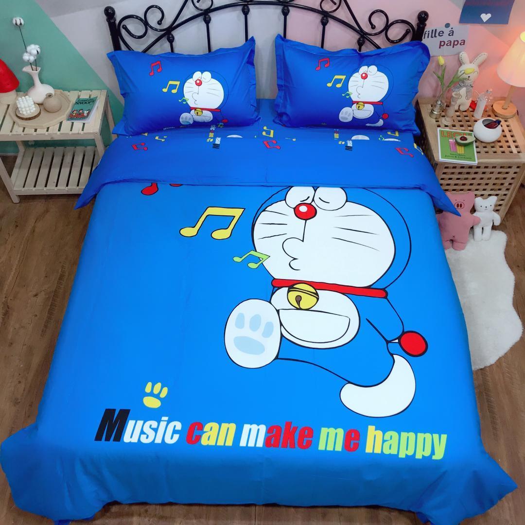 Copripiumino Matrimoniale Bambini.Acquista Set Biancheria Da Letto Anime Doraemon Bambini Copriletto