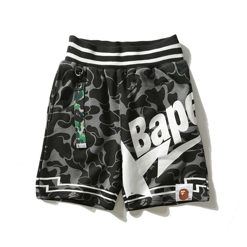 Pantalones de la playa de moda pantalones cortos para hombre Bape estilista para hombre Mens del verano Mujeres Camuflaje Imprimir Pantalones cortos Loose