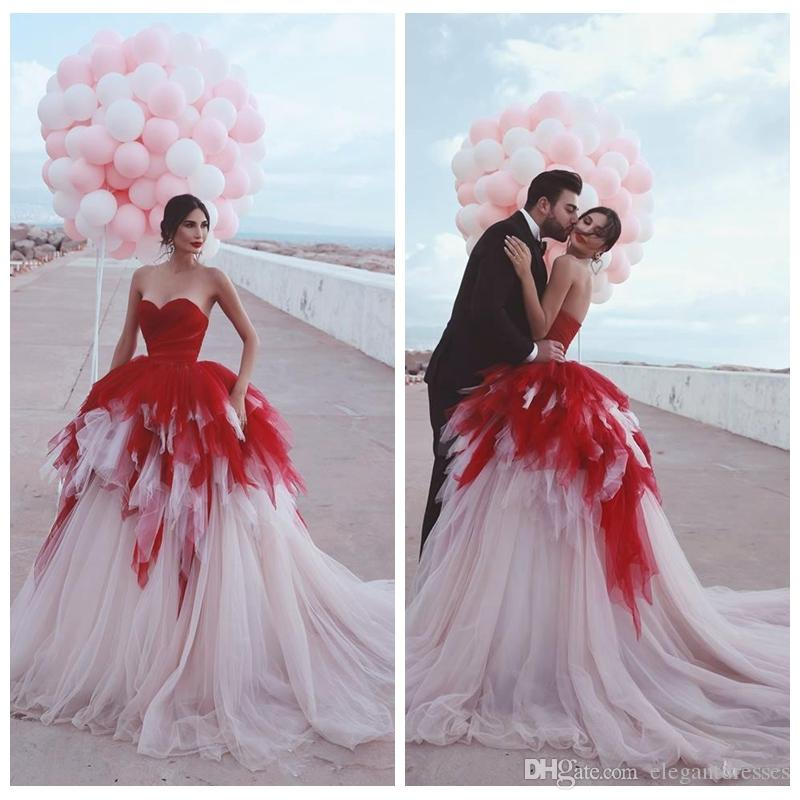 2019 Sexy Sweetheart Ball Gown Prom Dresses Surplice Bodice Top Tulle Long Vestidos De Soiree Custom Formal Women Evening Gowns Plus Size