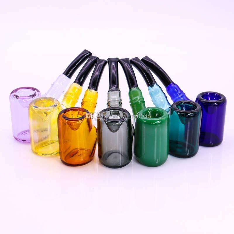 """5.7"""" tubi in vetro Sherlock tubo mano di modo mescolano i colori tubi in vetro del tubo 82g Tabacco Piccolo Bubbler per trasporto libero"""