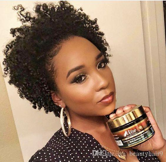 charming hot lady hairstyle short cut kinky curly wig African Ameri Brazilian Hair Simulation Human Hair black Kinky curly wig