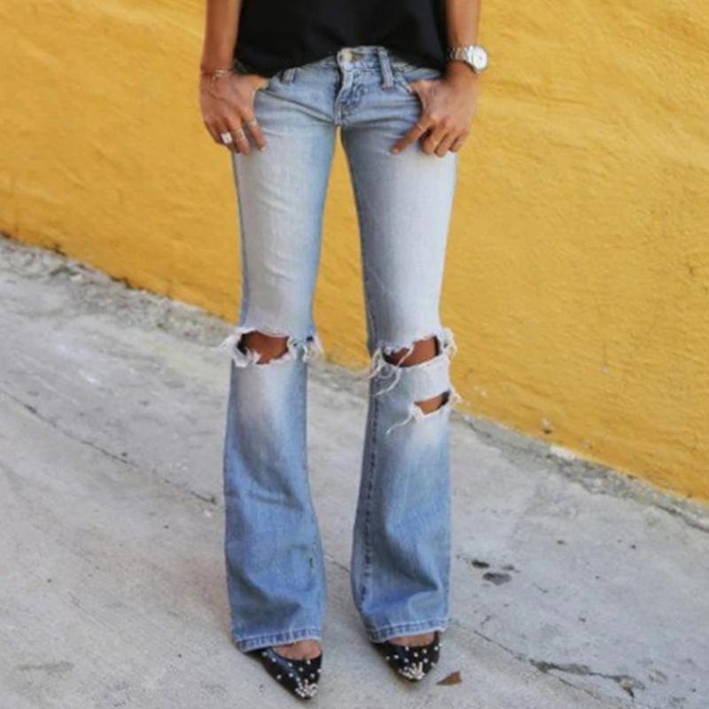 Adisputent 블루 패션 여성 청바지 데님 여성 높은 허리 스트레치 슬림 플레어 청바지화물 Ppants 데님 캐주얼 Spodnie Damskie