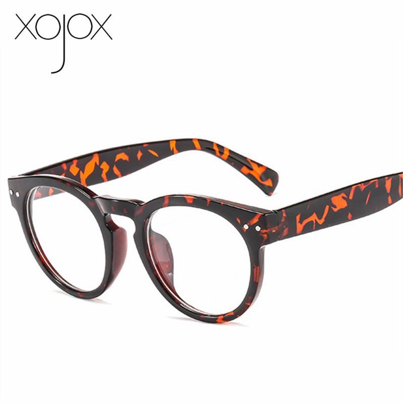 XojoX redonda óculos de armação Mulheres Óculos Optical Vintage Men Computer Gaming Espetáculos Unisex Miopia Óculos Quadro