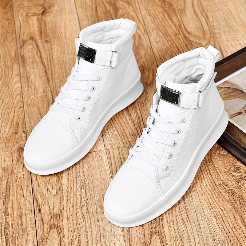Automne Hiver 2019 hommes nouveaux vent britannique de haute aide Martin bottes bottes hommes occasionnels espadrilles hommes zapatos de hombre Homme Chaussure