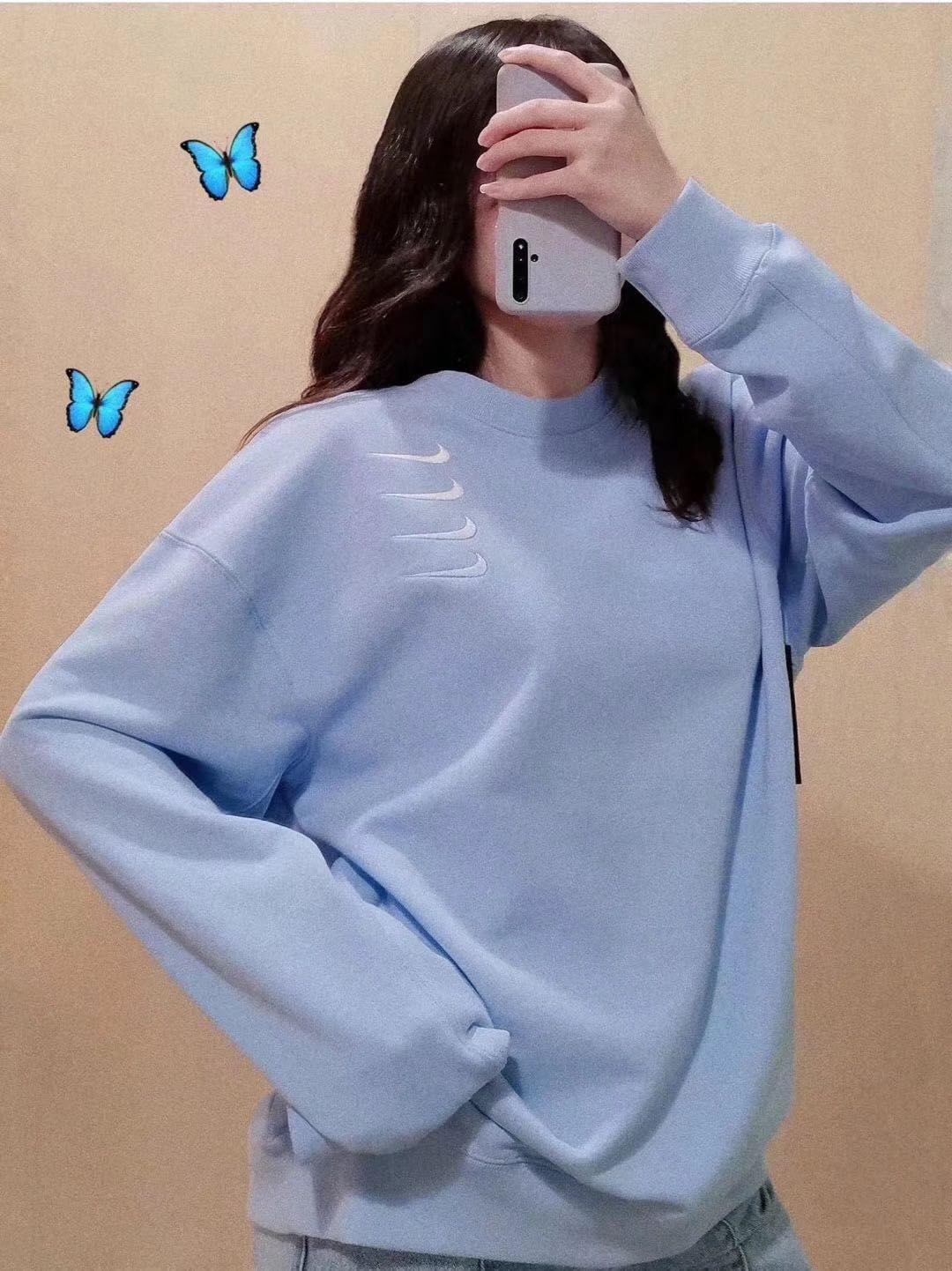 2020 yeni stiller kadın kazak moda pamuk nefes alabilen dört kanca üç renkli şeker renkli havlu S-M-L erkekler ve kadınlar aynı kazak