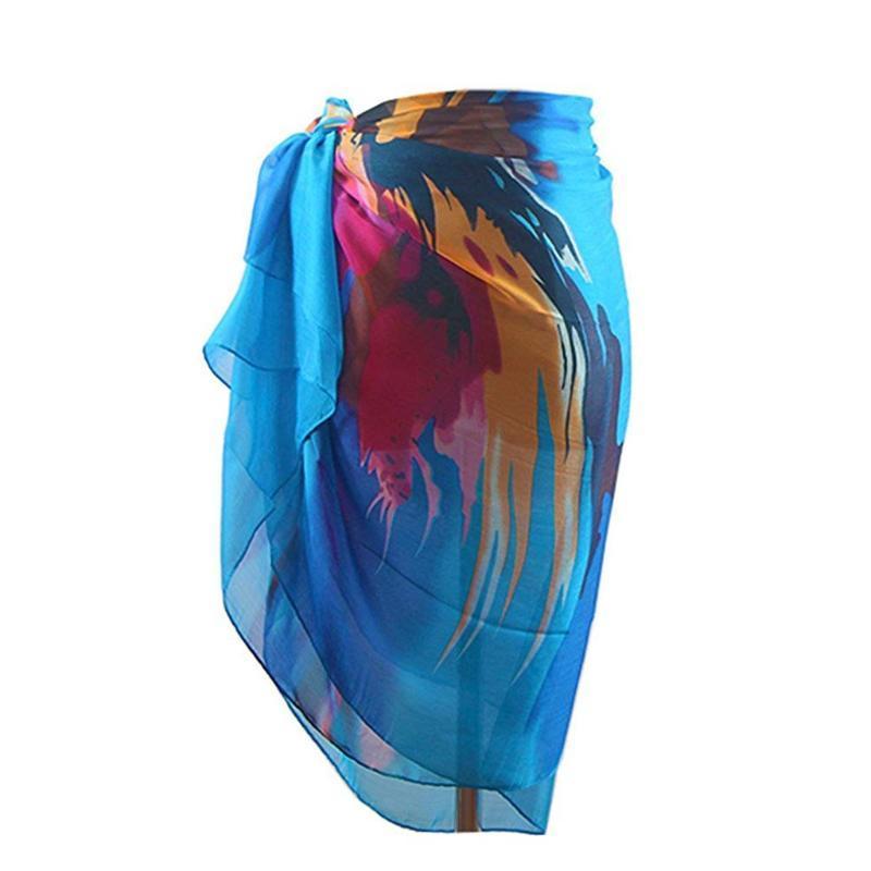 Femmes Foulard Sarong Bohême en mousseline de soie Maillots de bain Pareo foulard plage couvrante jupes Wrap Sarong Kaftan dropshopping # 30
