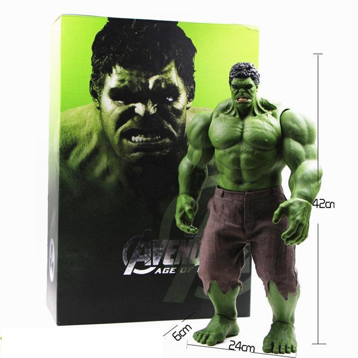 Hot Avengers Incroyable Hulk Iron Man Hulk Buster Hulkbuster 42cm Pvc Toys Figurine Hulk Smash Modèle produits finis T200609