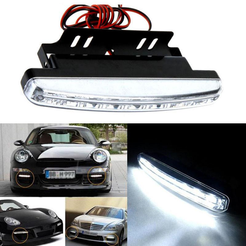 Universal auto car 8LED Daytime Driving Running Light DRL Car Fog Lamp Waterproof DC 12V