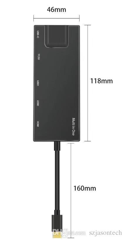Neue USB-C RJ45 1000 Mbps Ethernet-LAN-Kabel Adapter Hub Daten-Synchronisierungs-OTG-Konverter für MacBook Pro Chromeoberflächen