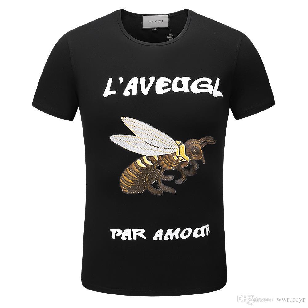 T-shirt à manches courtes pour hommes de marque T-shirt à imprimé requin homme Marque