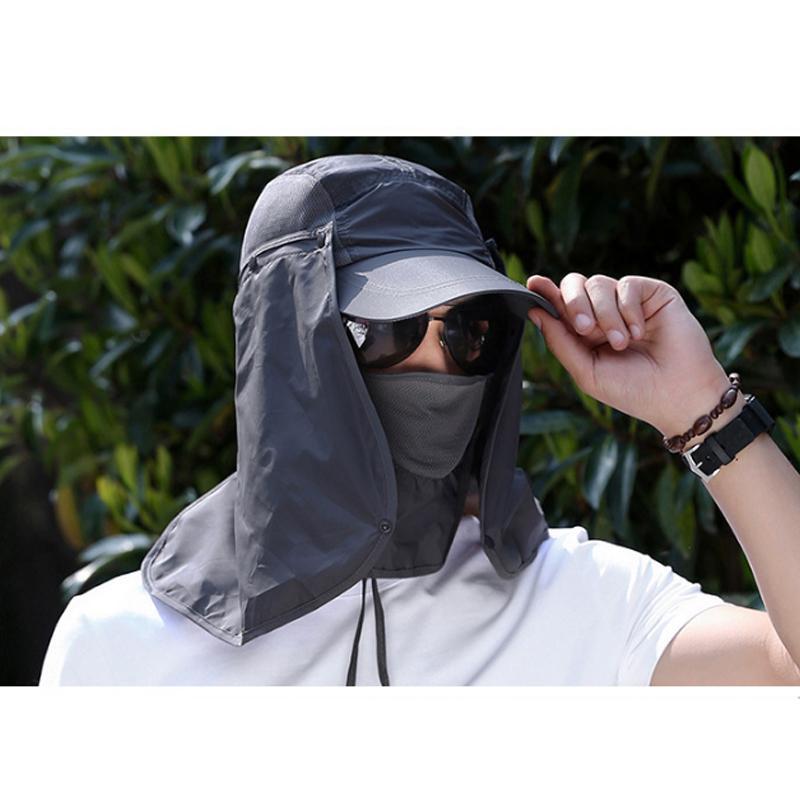 Exterior Desporto Caminhadas viseira Hat Proteção UV Neck Face Tampa Pesca Sun Proteja Cap melhor qualidade Fast Shipping