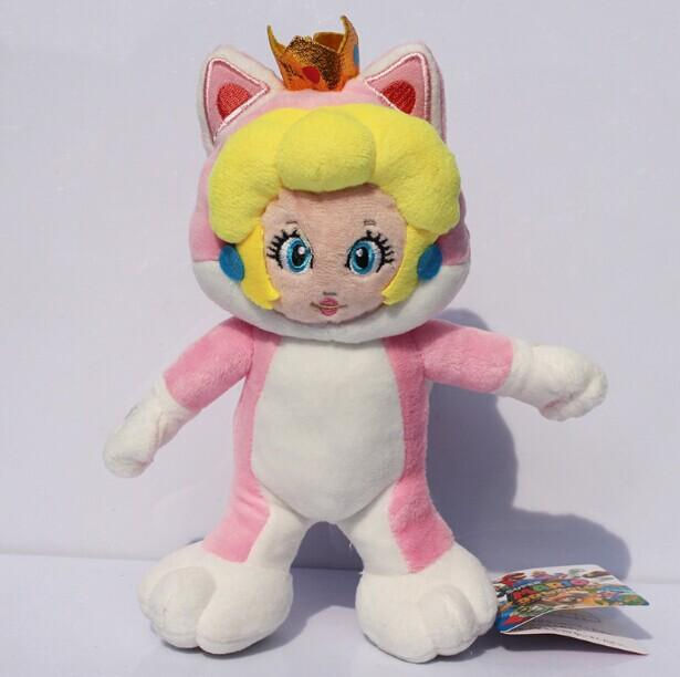 New Super Mario 3D World Cat Peach Princess Plush Doll Toys With Tag Gift 7