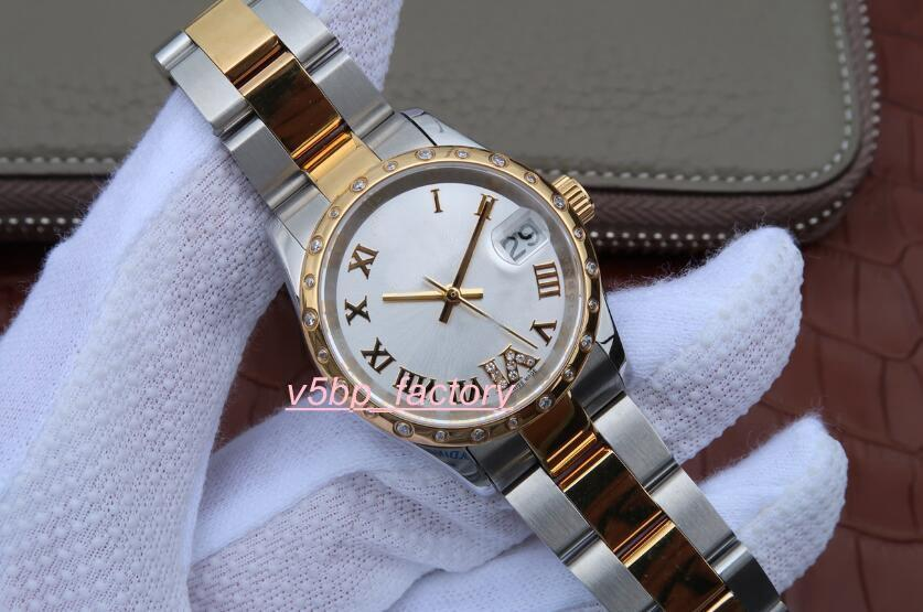 Top Quality Women's watches White Dial 31mm 18kt Gold Diamond 178383 Stainless Steel Asia 2813 Movement Automatic watch Ladies Watch Wome