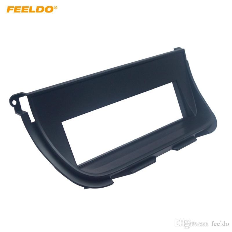 FEELDO Car 1DIN Stereo CD Radio Fascia Panel Frame For JAGUAR XJ(European) Dashboard Installation Mount Kit #5226