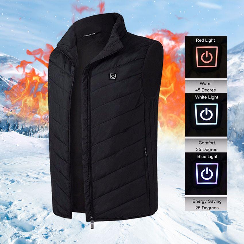 الرجال النساء التدفئة الكهربائية سترة سترة أكمام صدرية usb الحرارية الملابس الشتوية الدافئة سترة قميص الذكور تسخين سترة